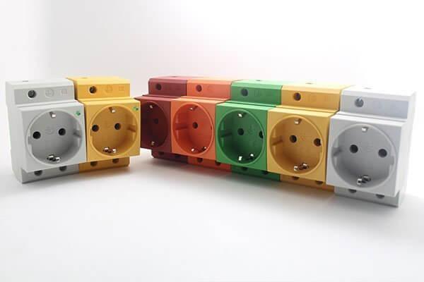 Colorful din rail socket