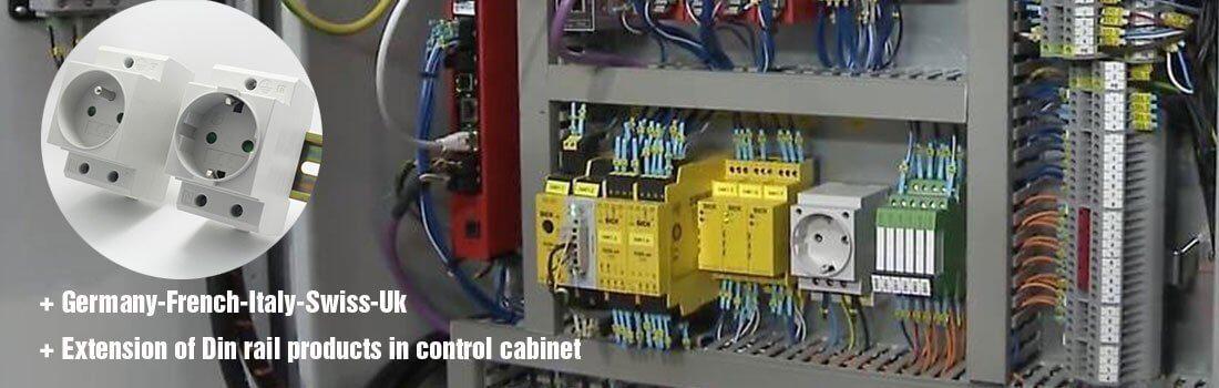 din rail socket outlet banner